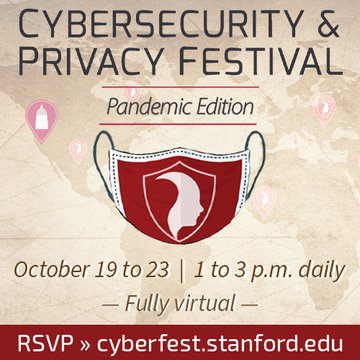 Cybersecurity & Privacy Festival, Oct 19 to 23, 1 to 3pm daily